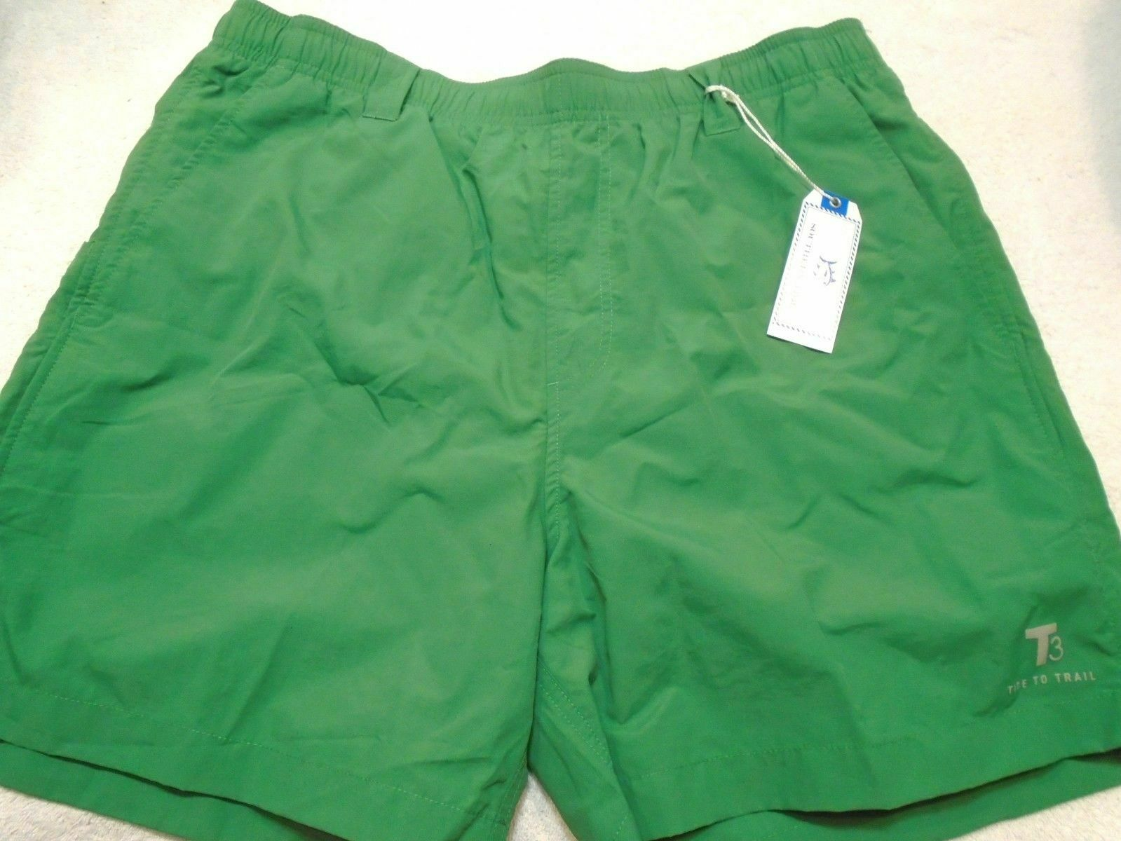 SOUTHERN TIDE TIDE TO TRAIL T3 SWIMMING TRUNKS MEN'S SIZE L GREEN