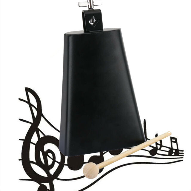 Eastrock 7 inch Metal Steel Cow Bell with Handle Stick Noise Maker Cowbell Percussion Instrument for Drum Set Kit Percussion