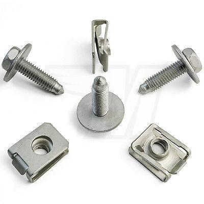 10x Set Metall Halteklammer M8 Schraube Motorschutz Unterboden schutz Mercedes