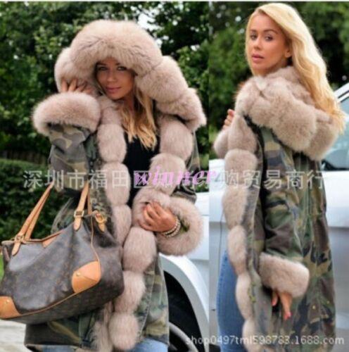 Us Kvinders Original Fox New Coats Thick ægte Jacket Parka pelsbeklædning Lining BwqzawPx64