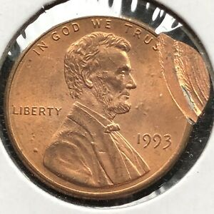 1993 Lincoln Cent 1c Bouble STRUCK ERROR #23713 | eBay