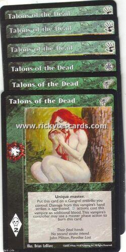 Talons of the Dead x6 3rd Ed KMW BH VTES Jyhad