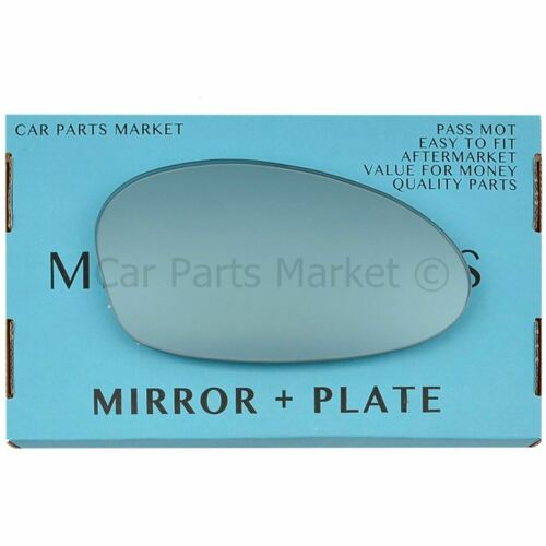 For BMW 1 series 2004-2009 Right Driver side Blue wing mirror glass with plate