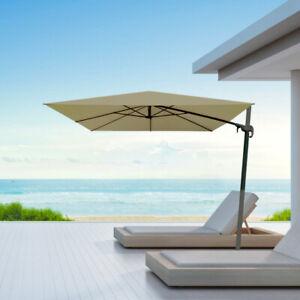 Ombrellone giardino decentrato 3x3 alluminio idrorepellente da esterno e piscina