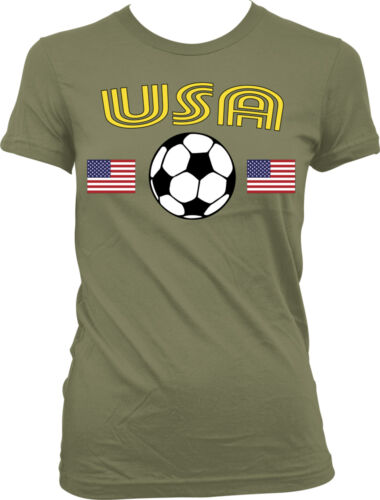 United States National Soccer Team Red White And Blue  Juniors T-shirt