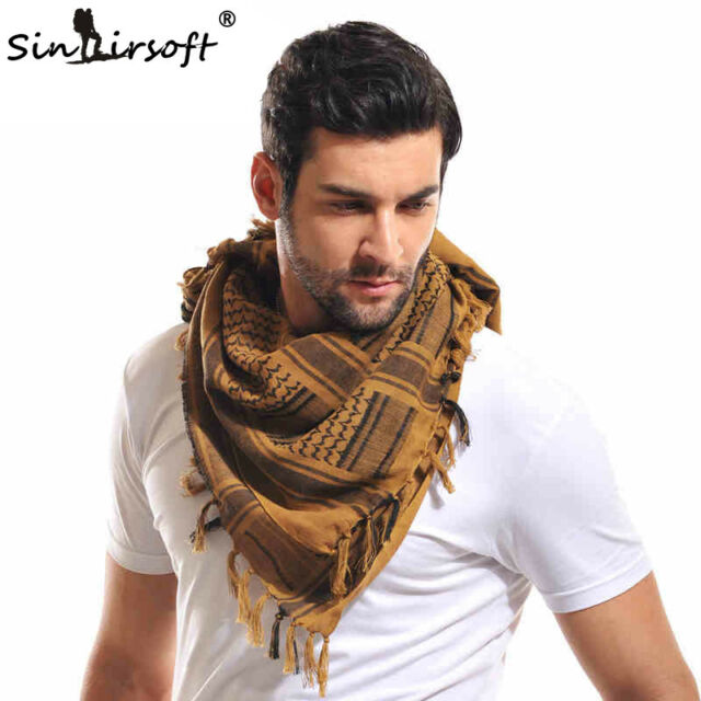 Striped Thicken Tactical Head Scarf For Adults Men Cotton Scarves Shawl Wraps