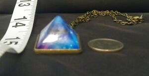 Old-Brass-Celestial-Pyramid-Glass-Pendant-with-10-039-Chain