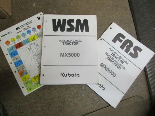 Kubota Mx5000 Mx 5000 Tractor Service  U0026 Repair Manual