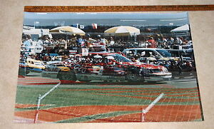 NASCAR-BILL-ELLIOTT-COORS-TBIRD-FAMOUS-DOUBLE-EXPOSURE-PITS-20-X-30-COLOR-POSTER