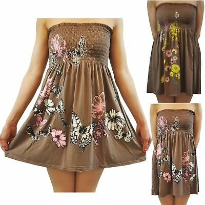 Chocolate Pickle New Womens Boob Tube Floral Tops