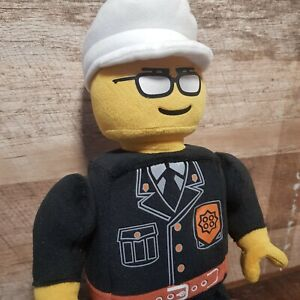 Plush-Lego-Man-Toy-Policeman-Detachable-Cap-amp-Movable-Arms-New-No-Tags