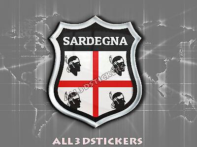 Adesivi Resinati 3D Scudetto Bandiera Sardegna Tutte le Bandiere