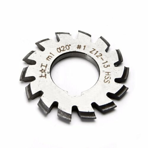 8 pcs Module M1 Inner Bore 20° 22mm #1-8 HSS Involute Gear Cutters Disk-shaped