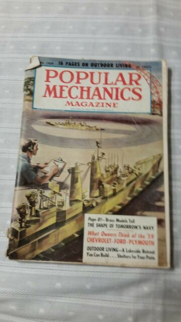 Vintage Popular Mechanics April 1959