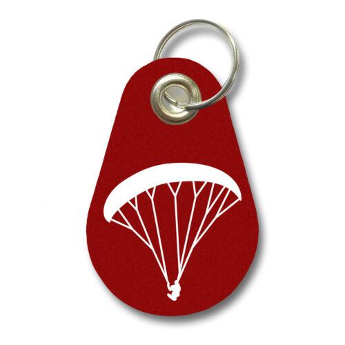 Samunshi Schlüsselanhänger Paraglider aus Filz  12 Farben 9,5x6,5cm