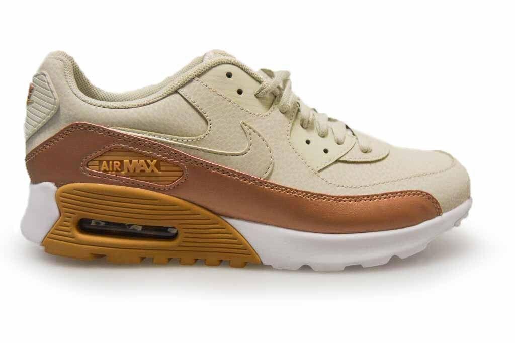 Los últimos zapatos de descuento para hombres y mujeres Barato y cómodo Womens Nike Air Max 90 Ultra SE - 859523 001 - Light Bone White Trainers