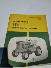 John Deere 140 Hydrostatic Tractor Owner Operator Manual User Guide Om M42630