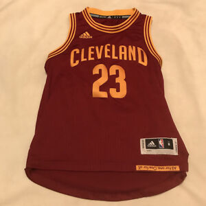 low cost 097dd 8a893 Details about Lebron James #23 Cleveland Cavaliers Cavs Adidas Swingman  Jersey Youth Medium