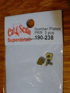 Cal-Scale-238-Number-Plates-PRR-3-pcs-HO-Scale
