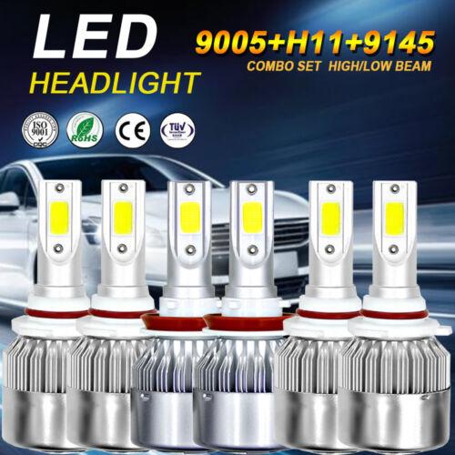 9005 H11 LED Headlight Hi//Lo 9145 H10 Fog Light Bulbs for Ford F-150 2015-2017
