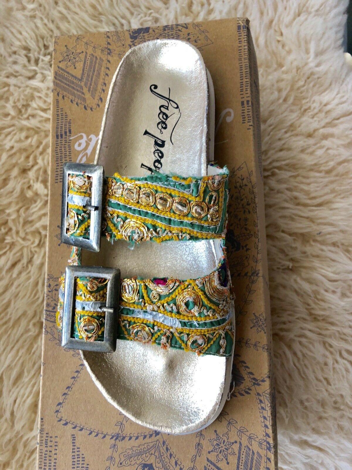New Free People Bali Footbed Sz 36 Us 5.5