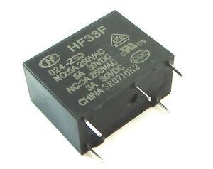 Lote-de-10-Rele-HF33F024-ZS3-HF33F-024-Z-HF33F-024-ZS3-24-V-Hongfa