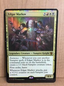 1 Edgar Markov FOIL Commander 2017 NM Mythic Rare CARD Magic mtg