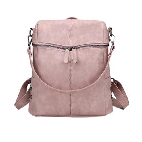 Women's Leather Backpack Anti-Theft Rucksack School Travel Bag Satchel UK