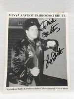 SIGNED WWE 8x10 Photo by The Russian Brute ECW TNA WWF WCW Autograph