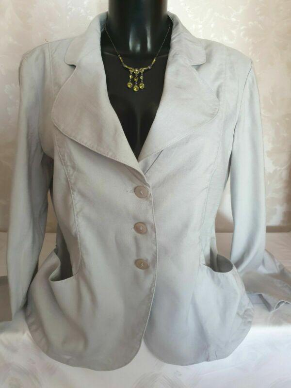 "Armani Jeans"" Damen Sommer Blaser Jacke Leinen-58%viskose-40% Gr.48 Neuwertig"