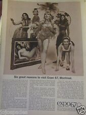 "1967 Expo 67 Original Regional Print Ad-8.5 x 10.5""Montreal"