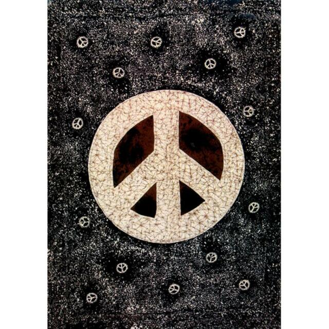 23-by-35 Inches Flocked Co-Exist Zen Peace Sign Blacklight Poster