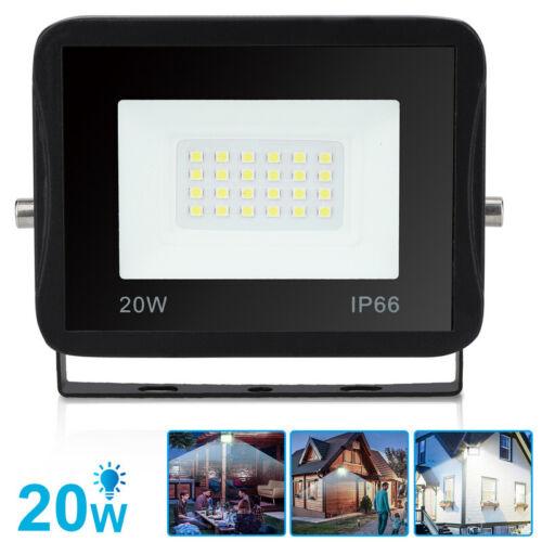 LED Fluter Strahler Außen Floodlight Flutlicht UltraDünn IP66 20W Kaltweiß