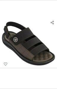 Cartago-Santorini-IV-Men-039-s-Sandals-Size12-Brown-Foam-Insole