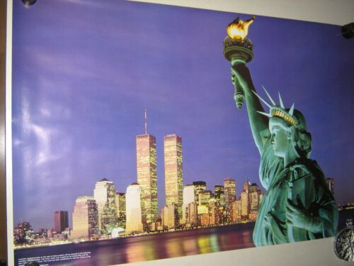 """Trade Center 22 x 34/"""" New cond New York City POSTER Statue of Liberty"""