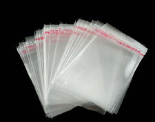 100 x Clear Self Adhesive Cello Plastic Bag Jewellery Display Bag 9cm x 6cm O91