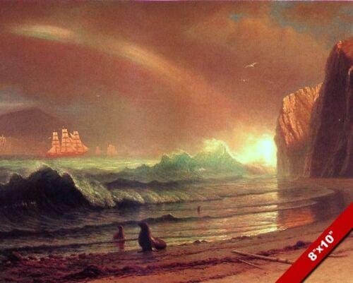 1800'S SAN FRANCISCO BAY GOLDEN GATE OCEAN SCENE CANVAS ART PAINTING PRINT