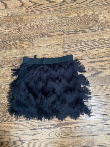Bcbgmaxazria Marabou Feather Skirt Size XX small