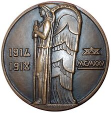 Art Nouveau Bronze Medal by Bourdelle & Lavrillier 1925 The Angel 1914-18 / N124