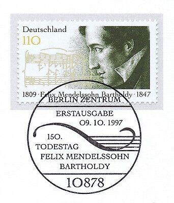 Brd 1997: Felix Mendelssohn Bartholdy Nr 1953 Mit Berliner Sonderstempel 1a 1905