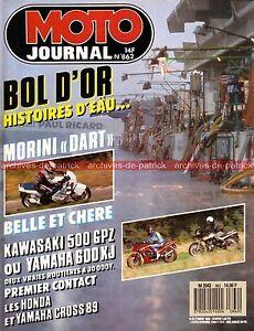 MOTO-JOURNAL-862-YAMAHA-XJ-600-YZ-125-250-KAWASAKI-GPZ-500-APRILIA-AF1-MORINI