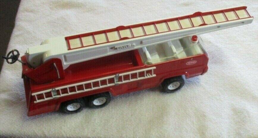 Vintage Tonka Camión De Bomberos década de 1970 Escalera Camión rosso gran condición