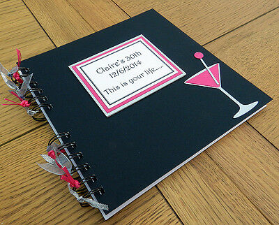 Birthday hen party guest book memory photo scrapbook personalised gift Cocktail