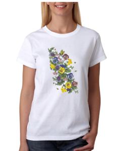 USA-Made-Bayside-T-shirt-Country-Flowers-bees-Butterfly-Butterflies-Shirt