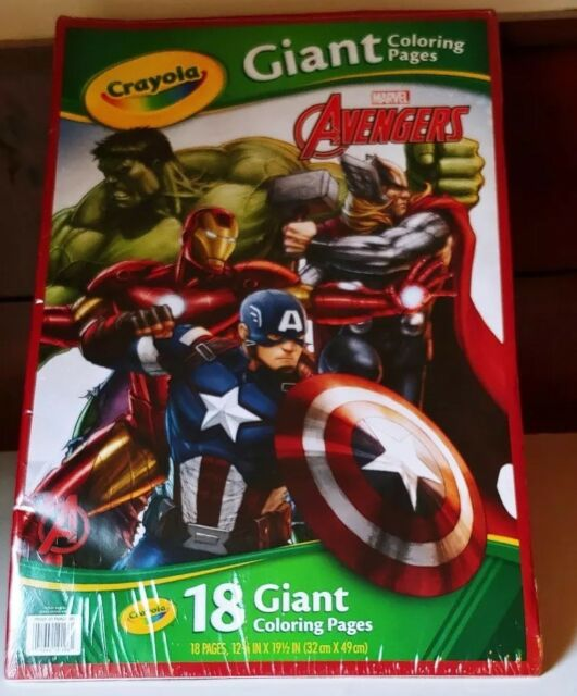 Crayola Avengers Giant Coloring Pages 18 Sheets For Ages 3 Sale Rhebay: Crayola Giant Coloring Pages Avengers At Baymontmadison.com