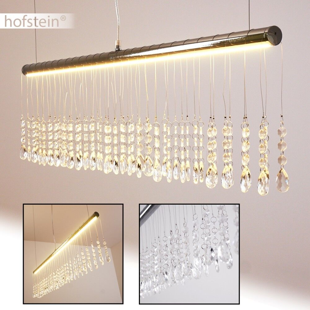 LED Salotto Lampada Soggiorno Cromo Cristalli Luce Salone Moderno Sala Pranzo