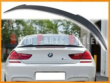 Unpainted V Type Trunk Spoiler Lip For BMW F13 640i 650i M6 Coupe 2Dr Only 2012+