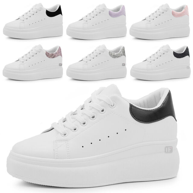 Scarpe Da Donna Ginnastica Sportive Sneaker Zeppa Para Platform VB9888