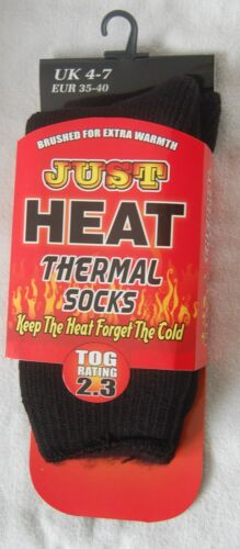 EXTRA WARM JUST HEAT THERMALSOCKS 2.3 TOG RATE  SHOE SIZE 4-7