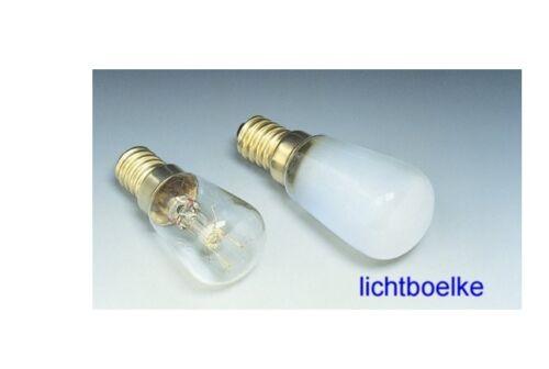 2 x Birnenformlampe Kühlschranlampe Glühlampe 15W matt
